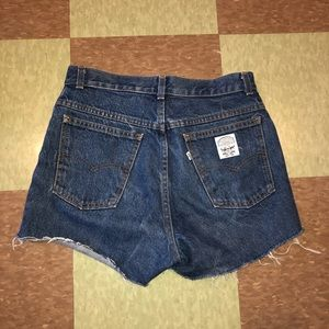 Vtg Levi's high rise denim shorts 4 6 usa